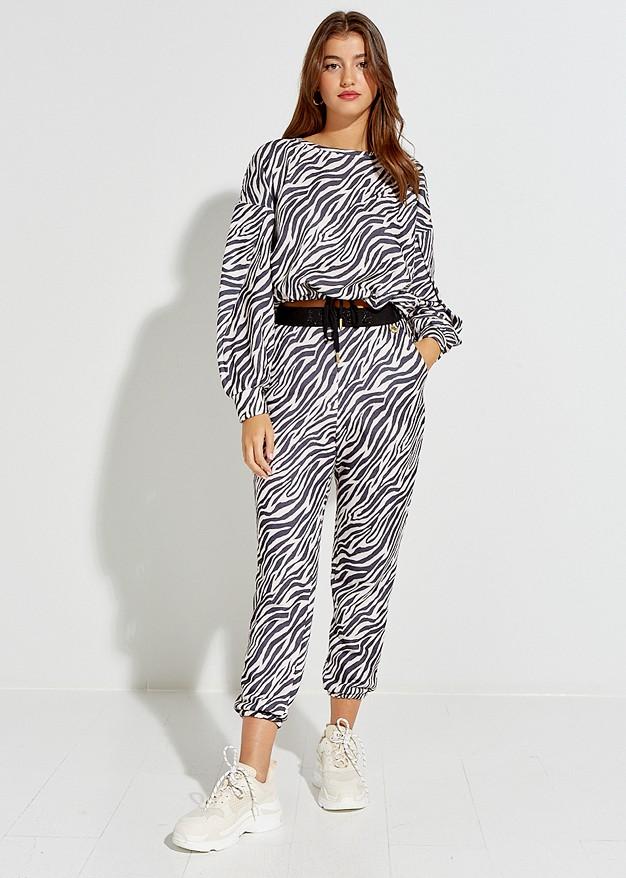 Παντελόνι φόρμα zebra print