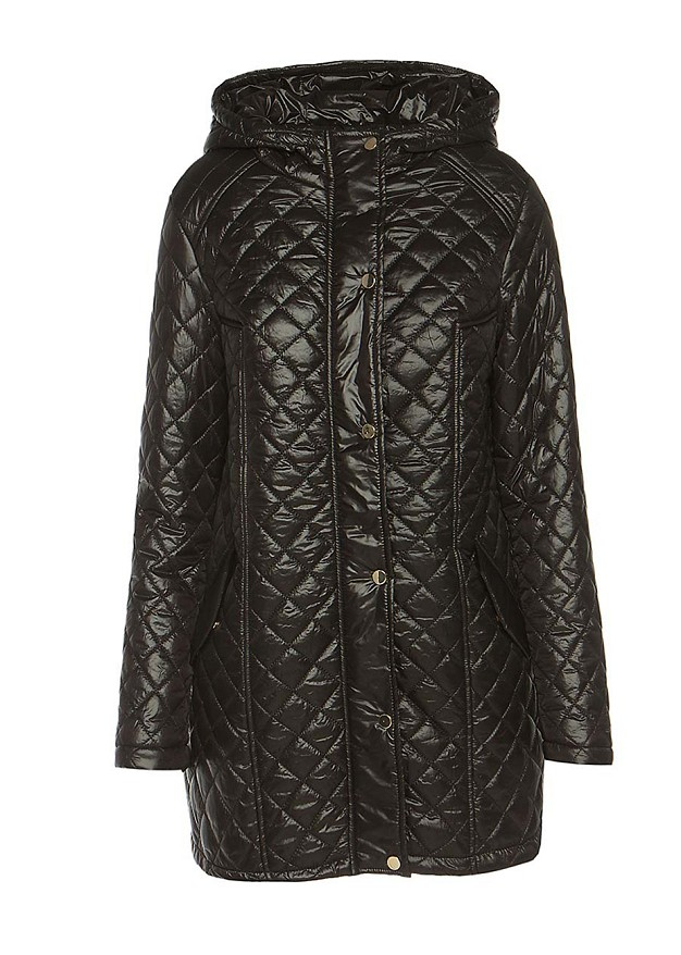 Short quilted trench coat
