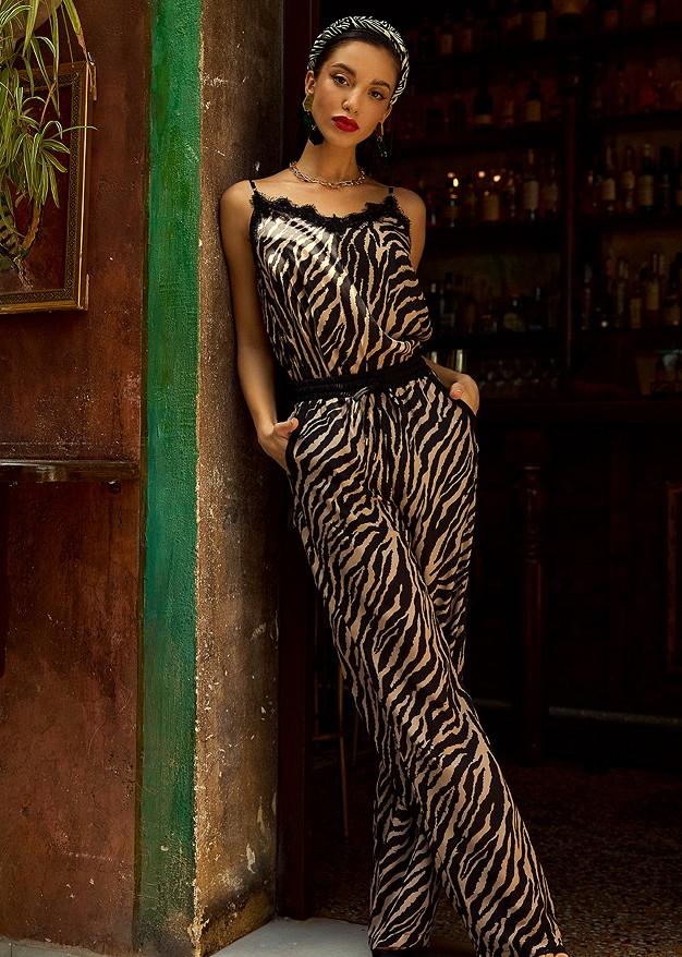 Панталон със зебров принт