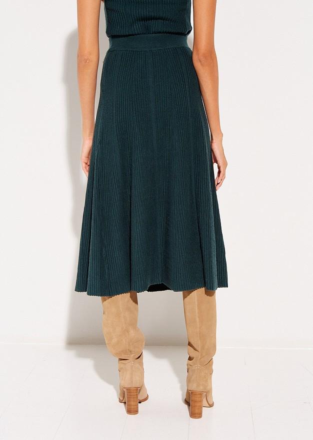 Πλεκτή φούστα midi