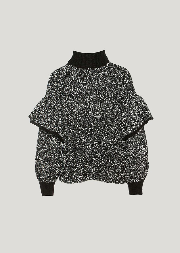 Sweater with ruffle details