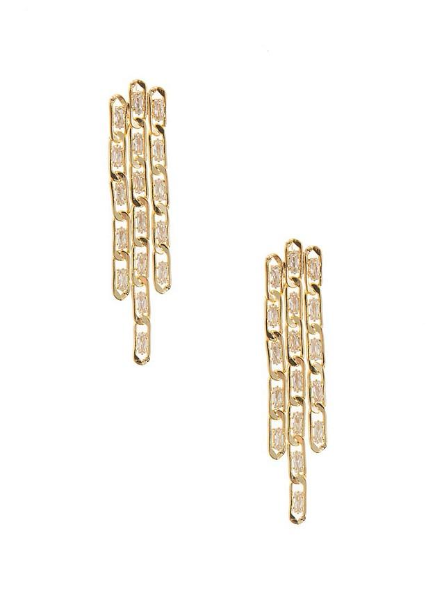 Κρεμαστά σκουλαρίκια chain look