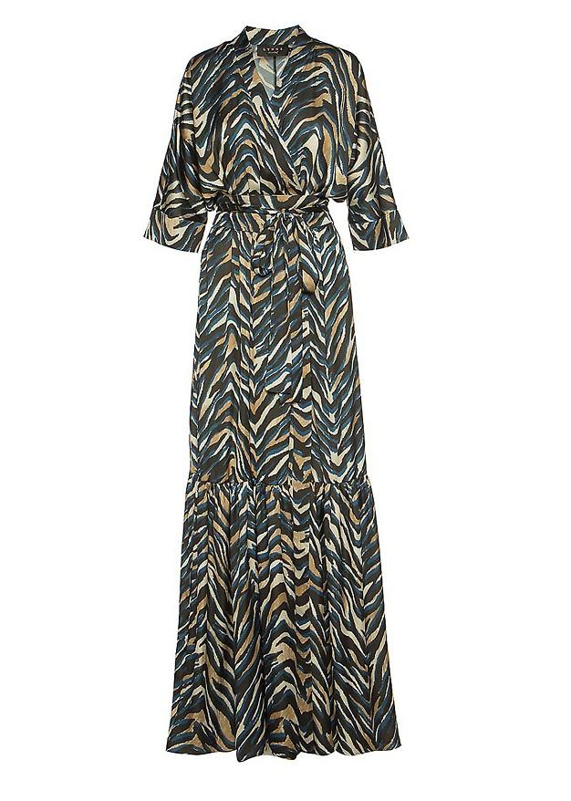 Animal print φόρεμα με βολάν