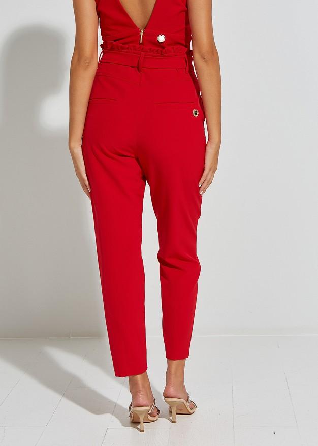 Панталон с висока талия и колан