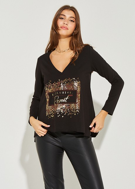 """Blouse with print """"Repeat"""""""