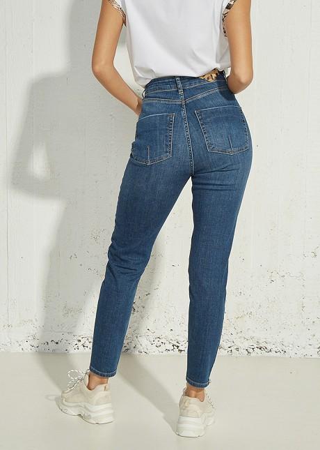 Amber denim trousers