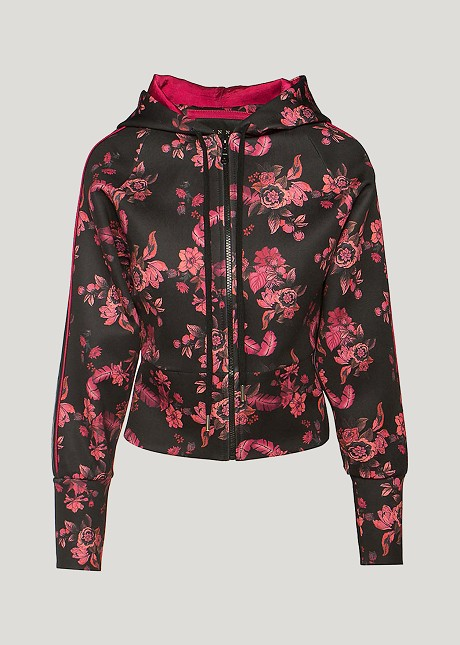 Floral full zip cardigan