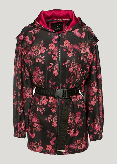 Floral  cardigan with belt