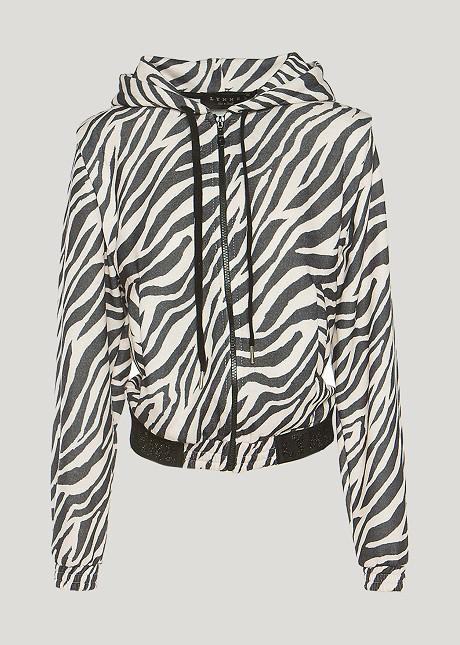 Αθλητική ζακέτα zebra print