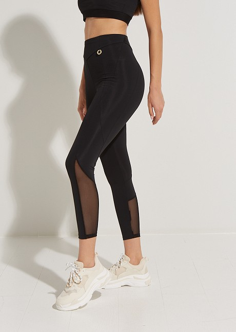 Leggings with see-through details