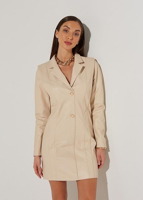 Leather look φόρεμα σακάκι