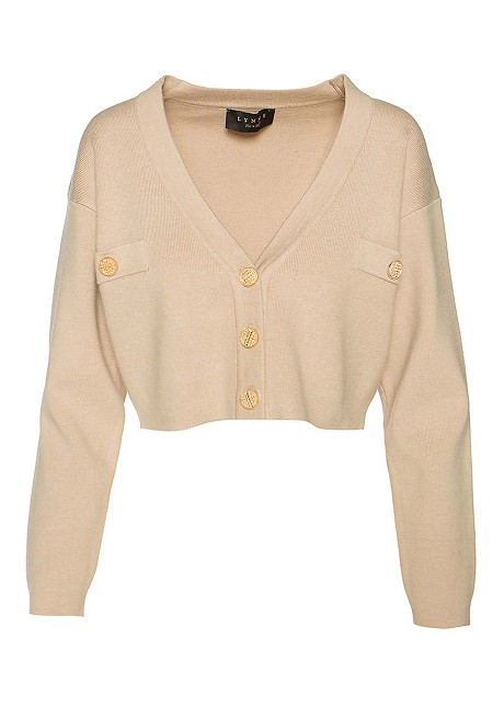 Knitted crop cardigan