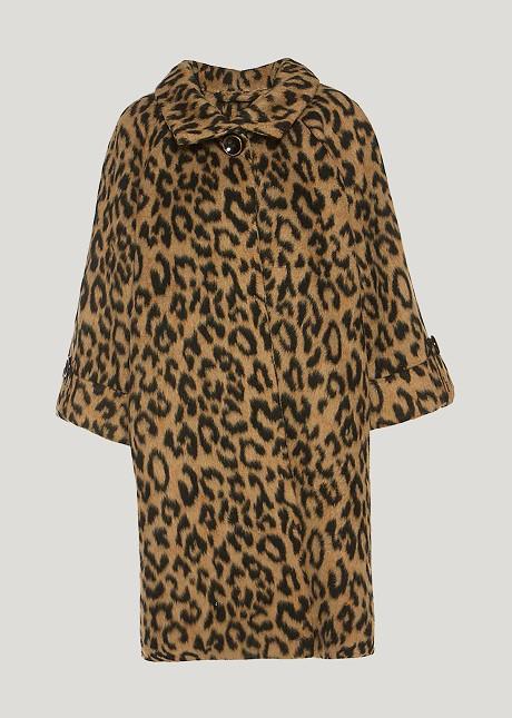Палто с животински принт
