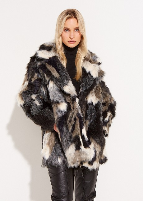 Fur with color combination