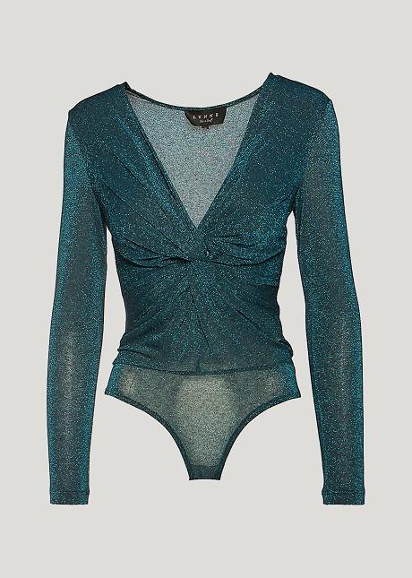 Bodysuit with lurex