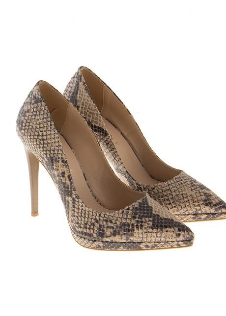 Snake print high heels
