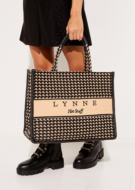 Oversized tote bag with logo