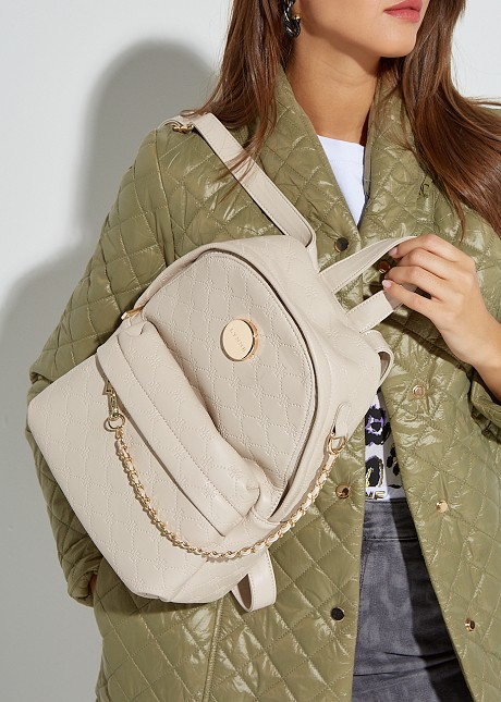 Textured backpack