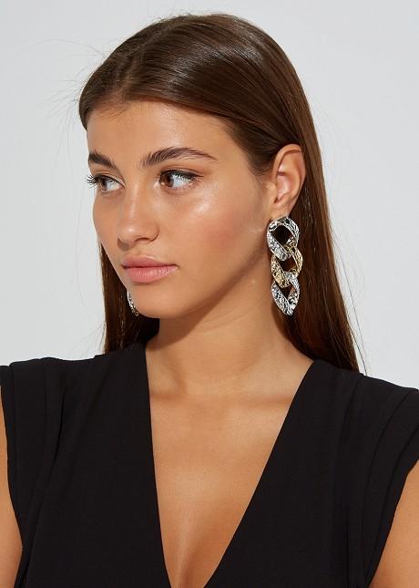 Chain textured earrings
