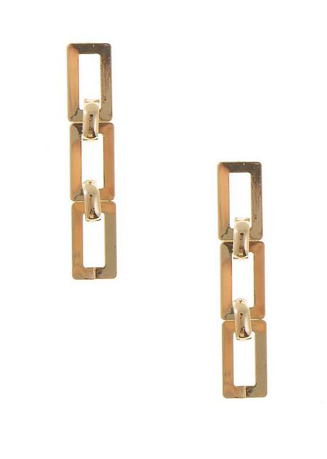 Chain drop earrings