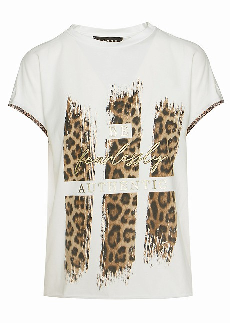 """Blouse with print """" be fearlessly authentic """""""