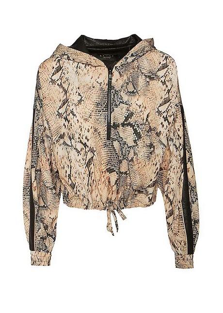 Блуза със змийски принт