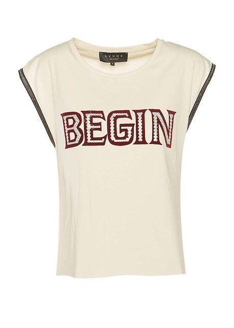 """Blouse with print """"begin"""""""