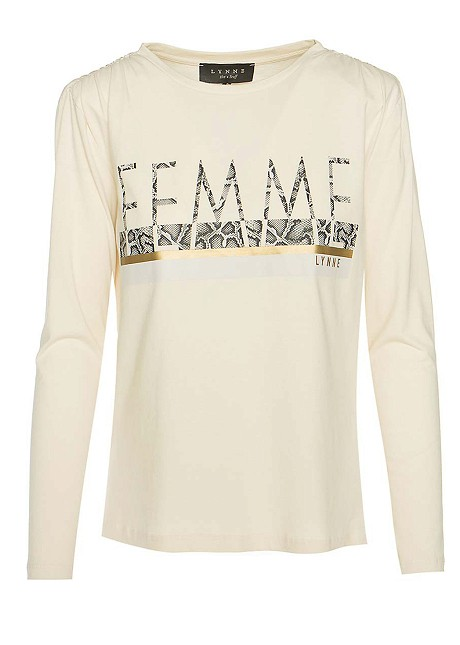 """Blouse with print """"Femme"""""""