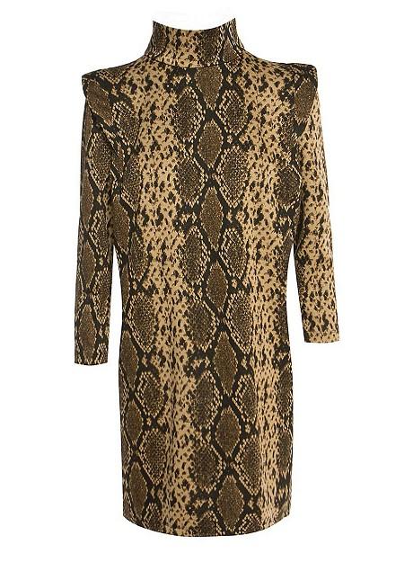 Snake print ζιβάγκο φόρεμα