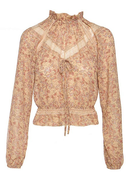 Blouse with paisley print