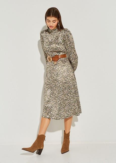Midi φλοράλ φόρεμα