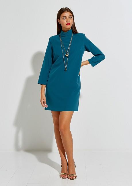 Mini dress with turtle neck