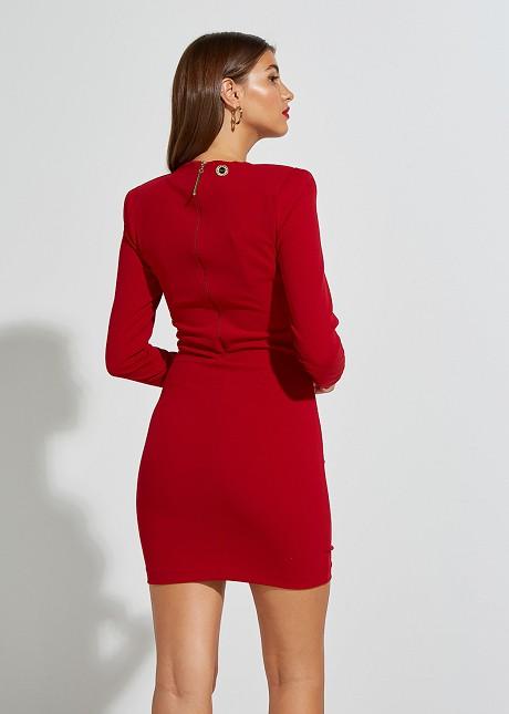 Къса рокля с V-образно деколте