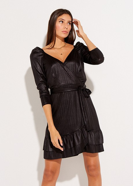 Asymetric wrap dress