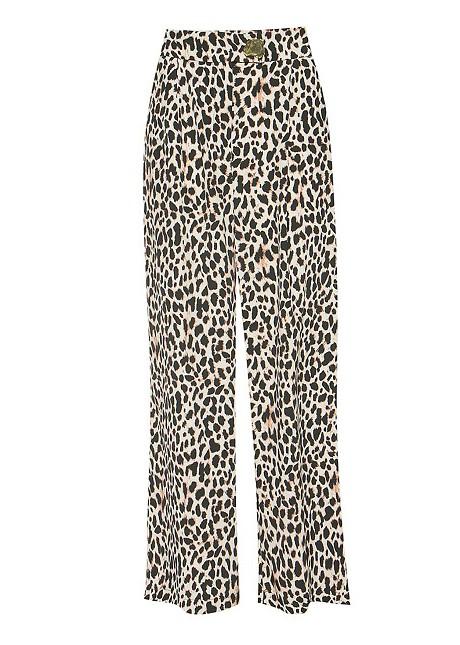 Ψηλόμεσο animal print παντελόνι