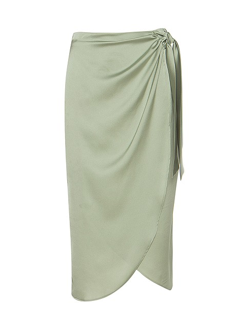 Wrap skirt with side knot