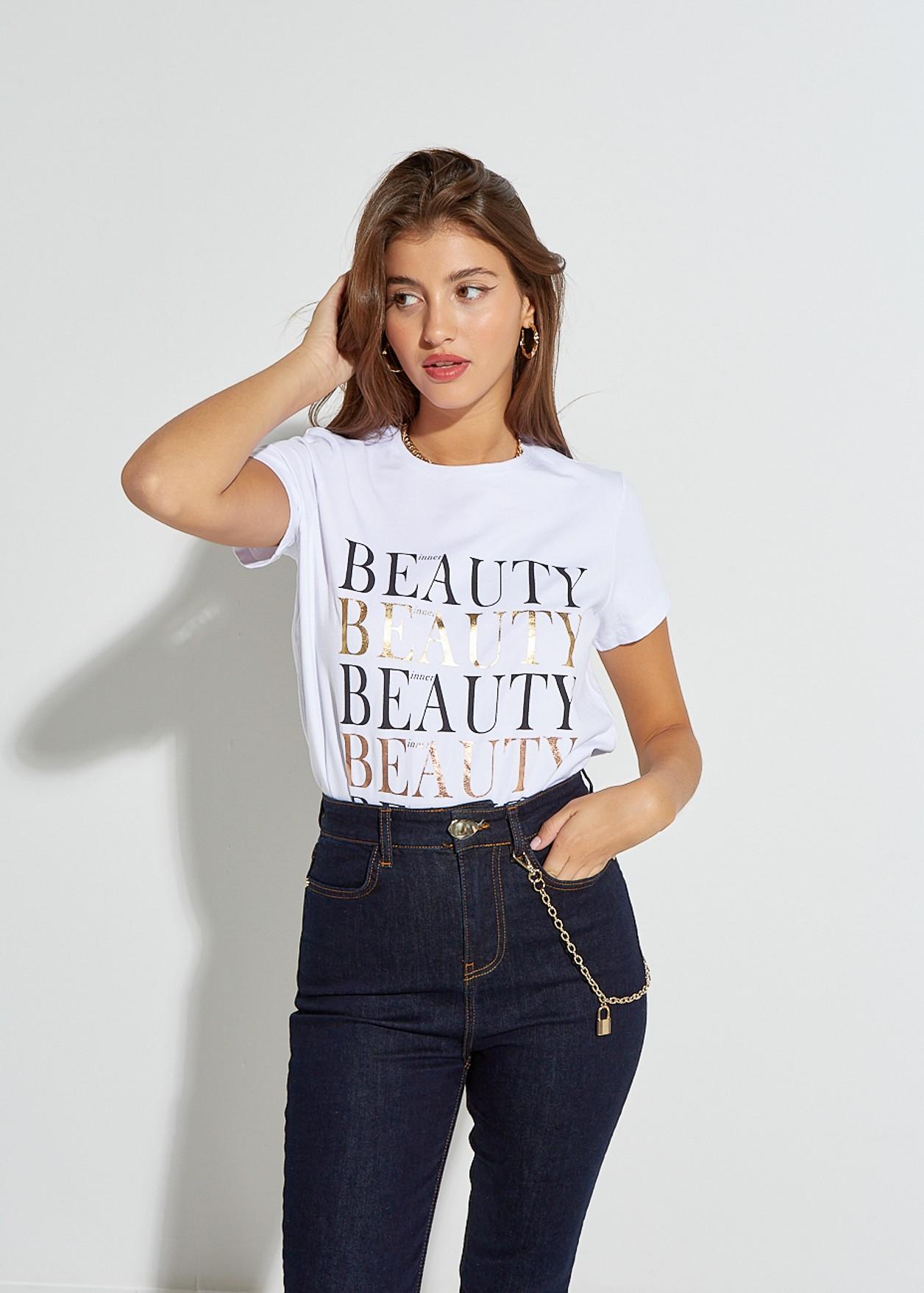 """Μπλούζα με τύπωμα """"Beauty"""""""