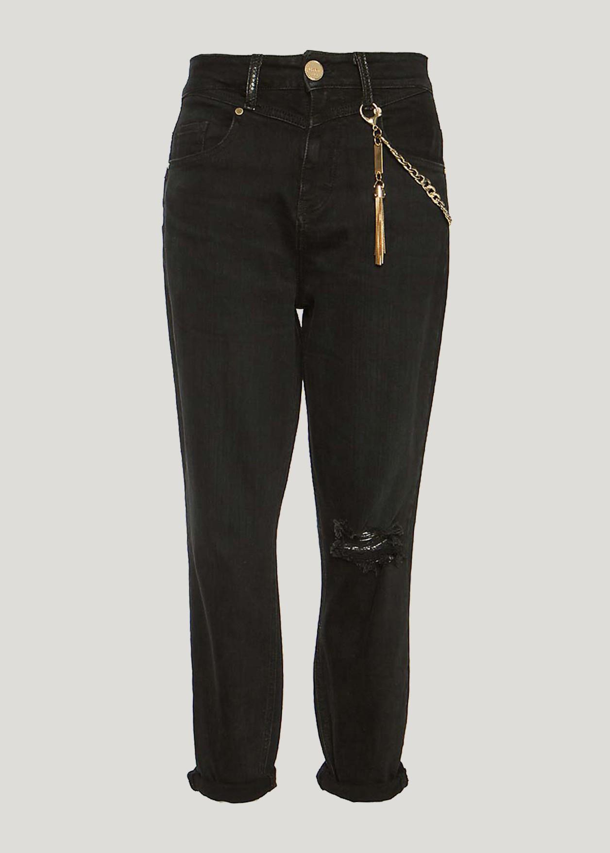 Τζιν παντελόνι με λεπτομέρεια αλυσίδα