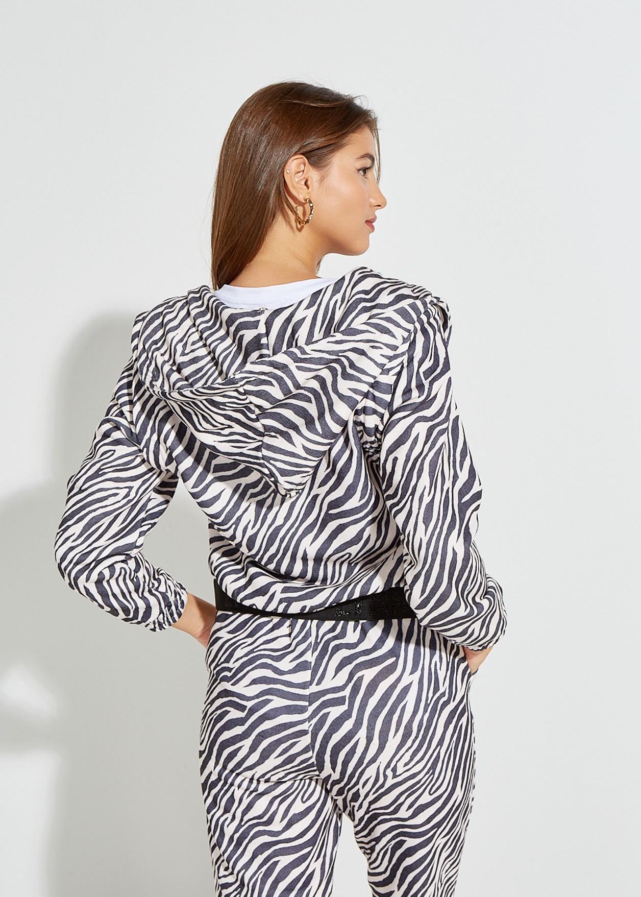 Cardigan with zebra print