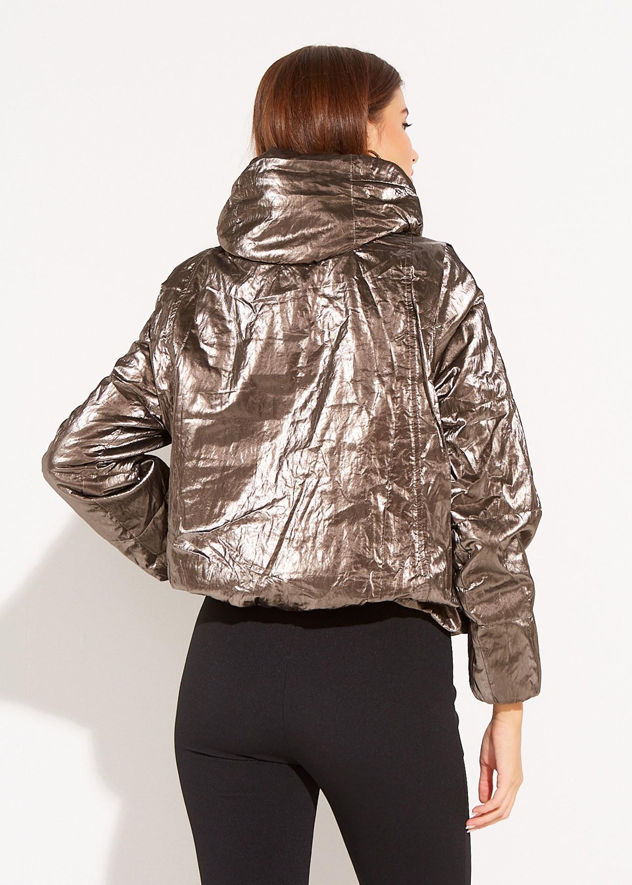 Short vinyl jacket