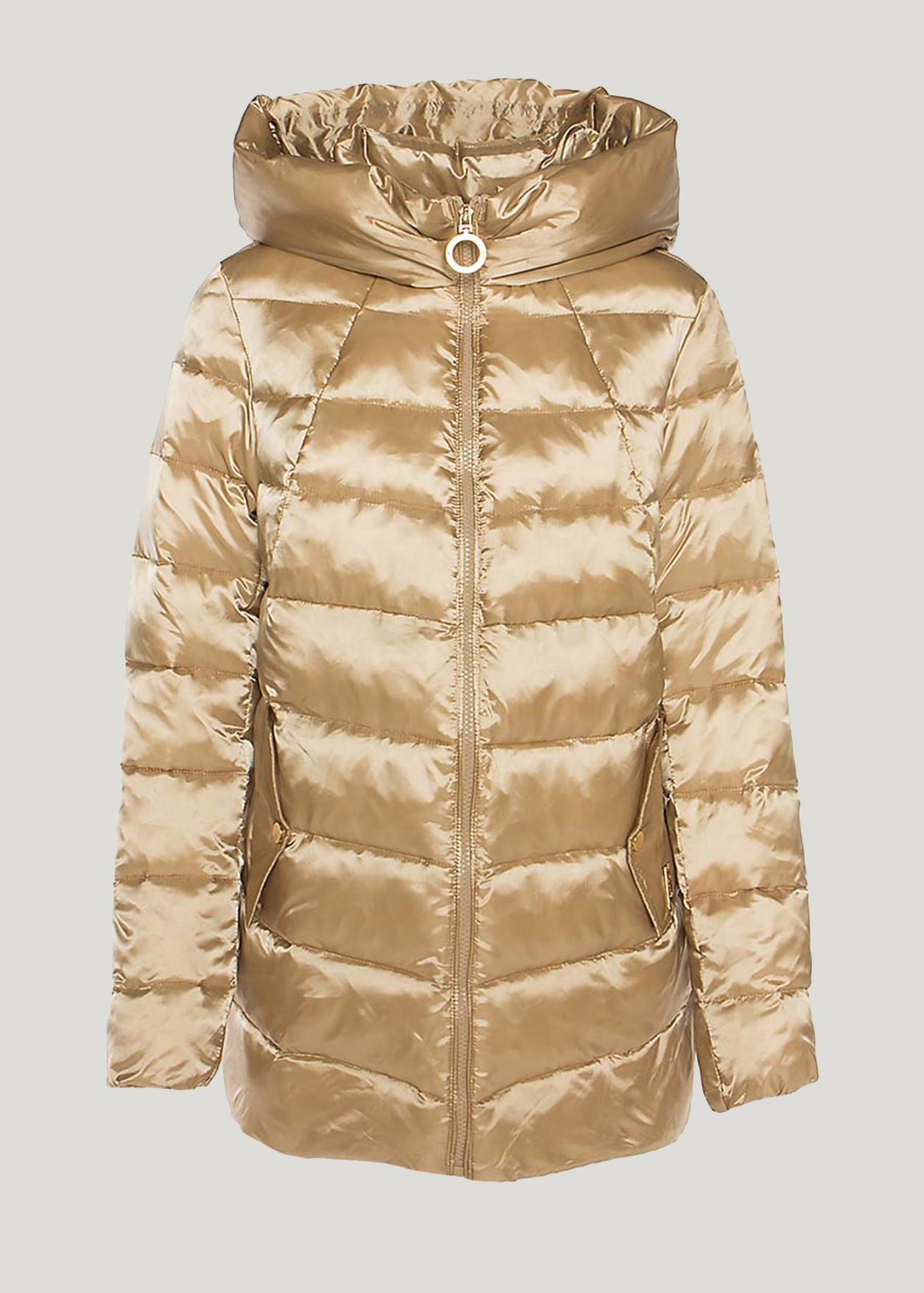 Satin puffer jacket