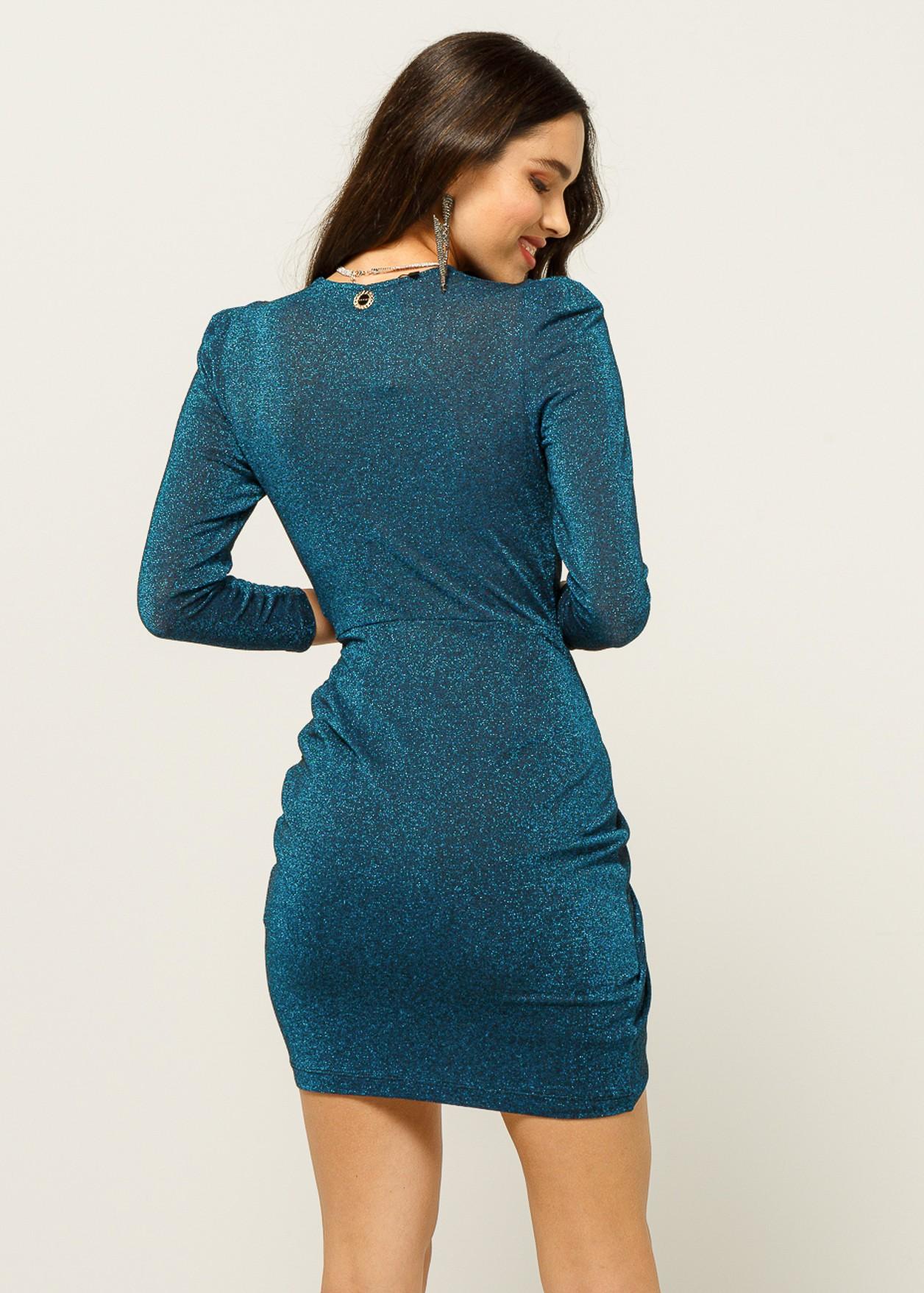 Къса рокля с лурекс