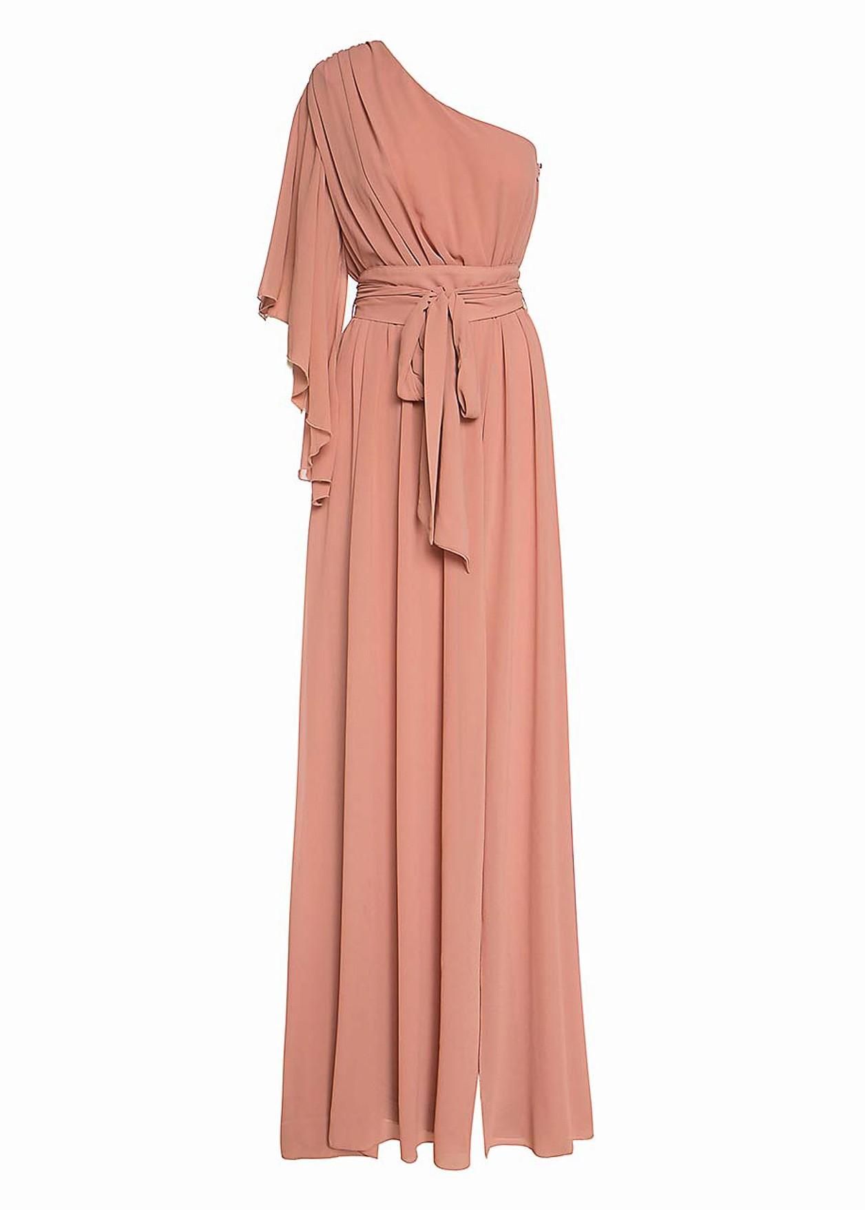 Дълга рокля с колан