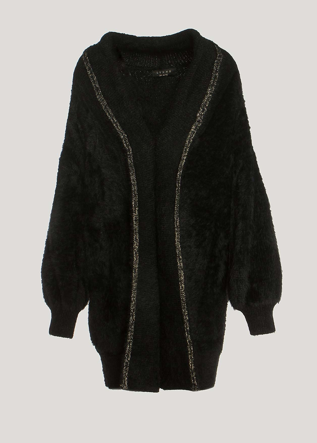 Long fluffy cardigan