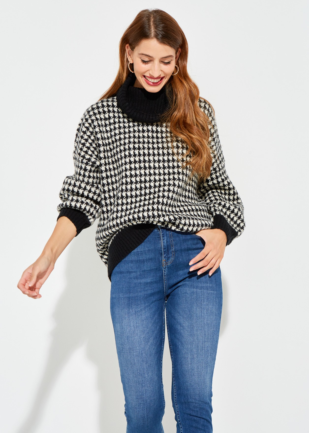 Sweater pied de poule