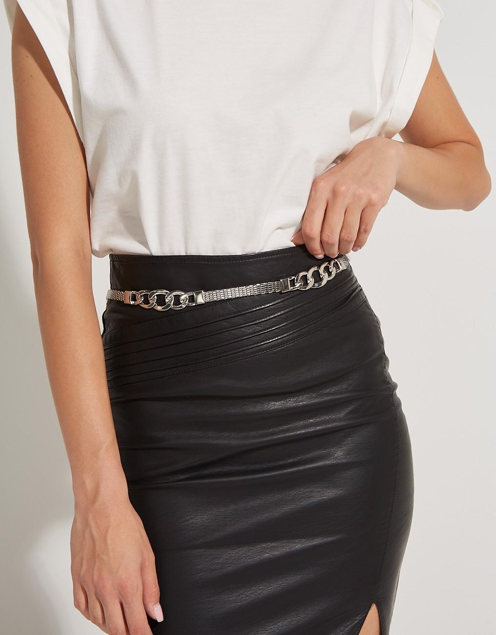 Waist belt with chain parts