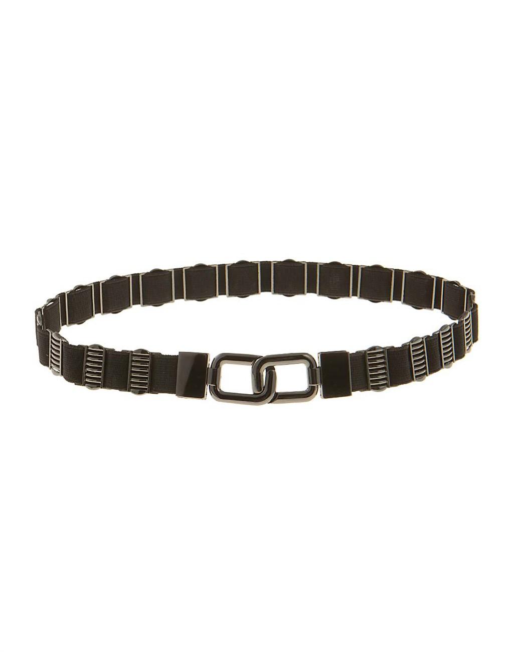 Belt with metallic elements