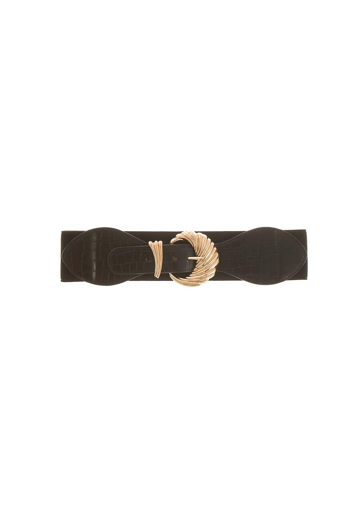Elastic waist with gold buckle