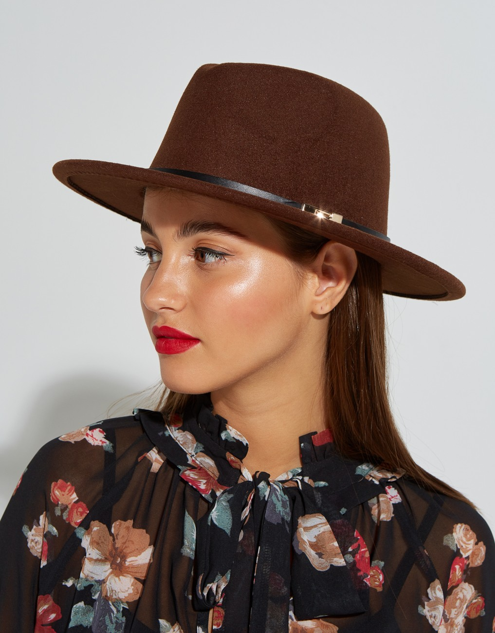 Hat with gold detail
