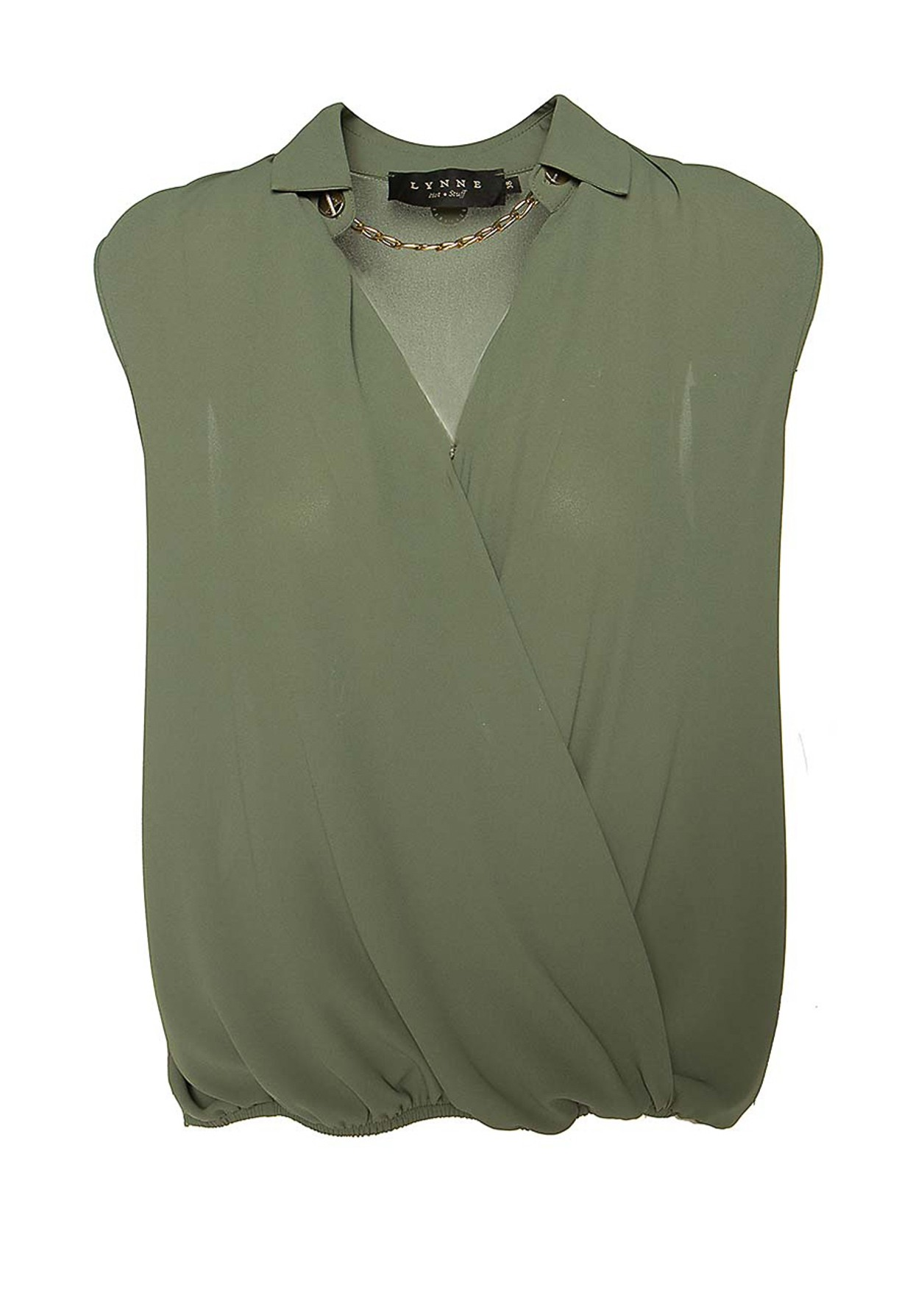 Blouse with chain detail